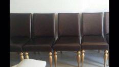 Spot Deri Gold Bacaklı Sandalye