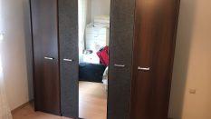 Beş Kapaklı Aynalı Gardırop