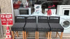 Rattan Hasır Bar Sandalyesi